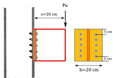 مثال طراحی اتصال پیچ و مهره ای تحت لنگر خمشی و نیروی برشی