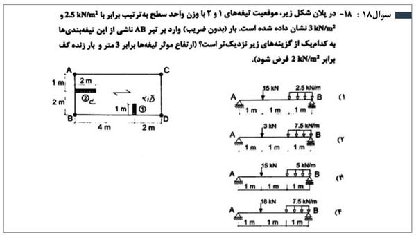 سوالات آزمون محاسبات نظام مهندسی 12 بهمن 97 به همراه پاسخ تشریحی آن