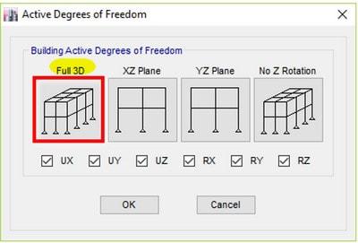 اعمال درجات آزادی در تحلیل و طراحی سازه فلزی ( مرحله به مرحله تحلیل و طراحی سازه فولادی در etabs)