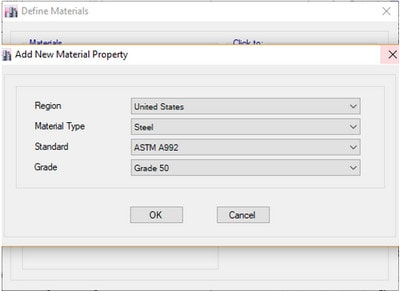 مدلسازی و تعریف مصالح پروژه سازه های فولادی با ایتبس