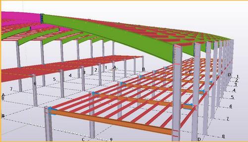 بررسی نکات اجرایی و تهیه نقشه های شاپ سازههای فولادی در کلوپ تکلا استراکچرز