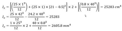 تعیین میزان ممان اینرسی مقطع برای محاسبه اساس مقطع