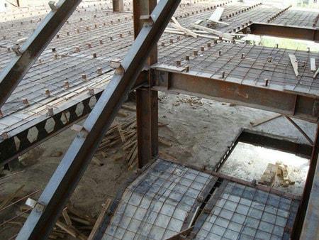 میلگرد های افت و حرارت در سقف کامپوزیت