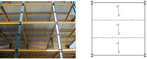 مثال طراحی سقف عرشه فولادی