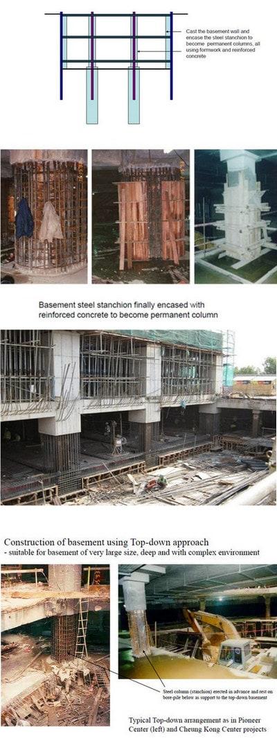 تکمیل دیوار های باربر در اجرای سازه