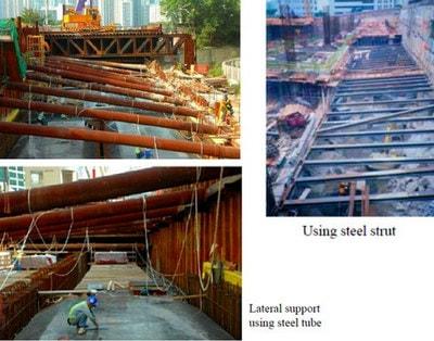 اجرای ساختمان به روش ساخت از بالا به پایین