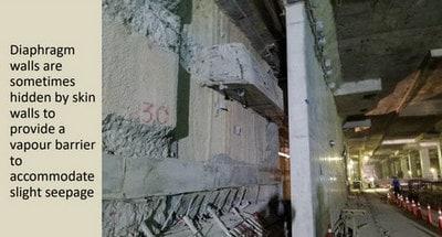 جلوگیری از رطوبت با ایجاد دیوار مضاعف در تونل