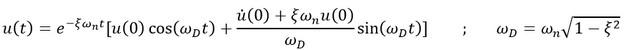 معادله ارتعاش آزادمیرا اجسام در مبانی دینامیک سازه ها