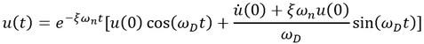 معادله ارتعاش آزاد میرا در دینامیک سازه ها