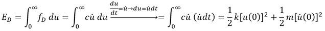 معادله انرژی کل در ارتعاش آزاد میرا