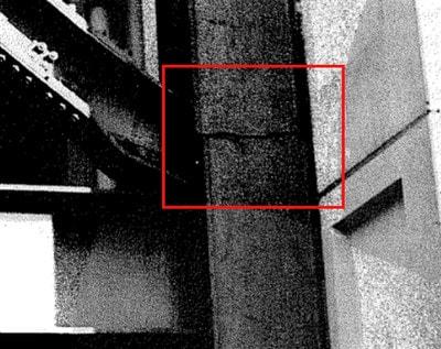 شکست اتصال جوشی بین دو ستون در اثر زلزله