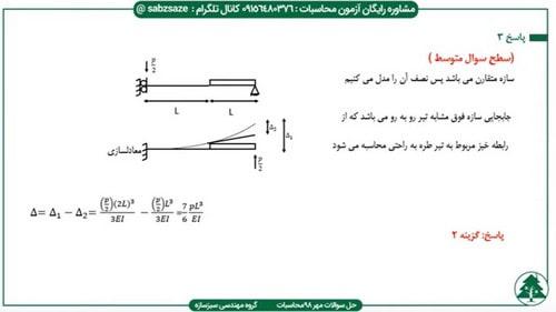 سوال سطح ساده تحلیل سازه در آزمون مهر 98
