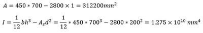 محاسبه حداقل و حداکثر تنش در طراحی بتن پس کشیده