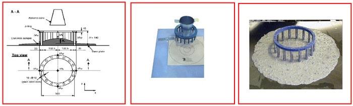 آزمایش حلقه J در بتن خود متراکم