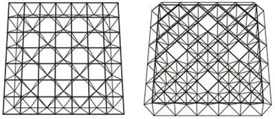 انواع سازه های فضا کار