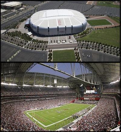 استادیوم فوتبال با اسکلت فضایی