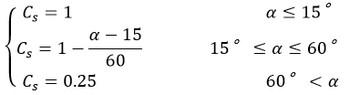 حداقل ضریب شیب وارد بر سازه های فضا کار (بارگذاری سازه های فضاکار)