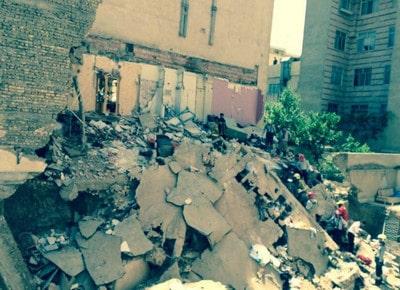 ریزش ساختمان به دلیل گودبرداری غیر اصلی
