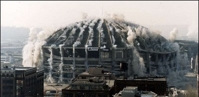 روش های تخریب ساختمان (تخریب به روش انفجار)