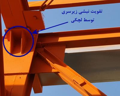 تقویت اتصال تیر های اسکلت فلزی