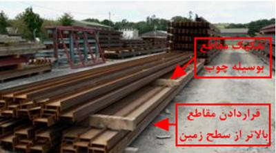مراحل نصب اسکلت فلزی