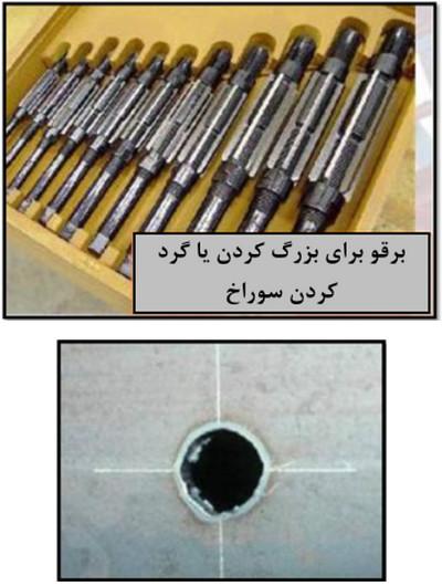 تنظیم سوراخ های پیچ و مهره