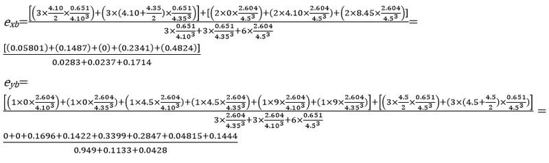 حداکثر فاصله مرکز جرم و مرکز سختی