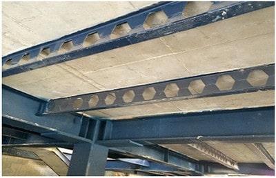 استفاده از تیر لانه زنبوری در سقف کامپوزیت