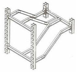 جزئیات سهبعدی شمشیری پله دوطرفه