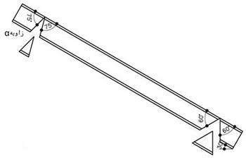 جداسازی قطعه مثلثی شکل بهمنظور خم کردن شمشیری