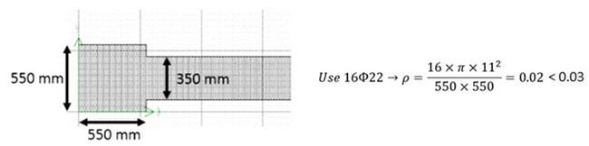 تعیین آرماتور مورداستفاده در دو انتهای دیوار