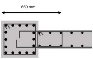 اجزای المان مرزی در دو انتهای دیوار برشی