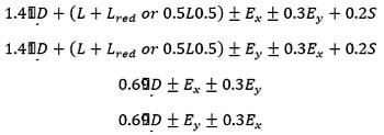 محاسبه ترکیب بار نیروی قائم زلزله